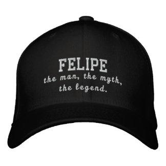 Felipe o homem, o mito, a legenda boné bordado