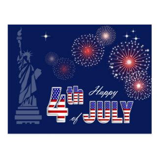 Feliz 4o julho. Cartão patrióticos do design