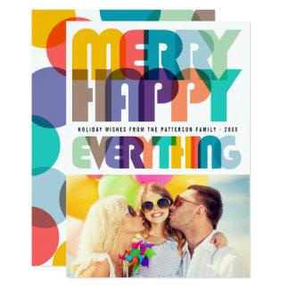 Feliz alegre tudo cartão colorido do feriado da