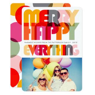 Feliz alegre tudo cartão com fotos colorido do