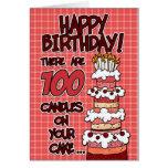 Feliz aniversario - 100 anos velho cartão comemorativo