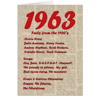 Feliz aniversario 1963 anos dos anos 60 60s da cartão