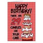 Feliz aniversario - 29 anos velho cartoes