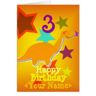 Feliz aniversario 3 anos seu cartão conhecido do