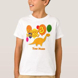 Feliz aniversario 3 do balão anos de t-shirt dos