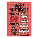 Feliz aniversario - 69 anos velho cartoes