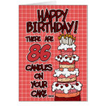 Feliz aniversario - 86 anos velho cartão comemorativo