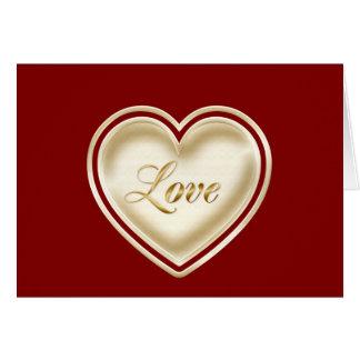Feliz aniversario à esposa com coração do amor cartão comemorativo