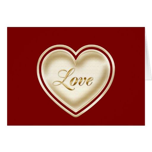 Feliz aniversario à esposa com coração do amor cartões