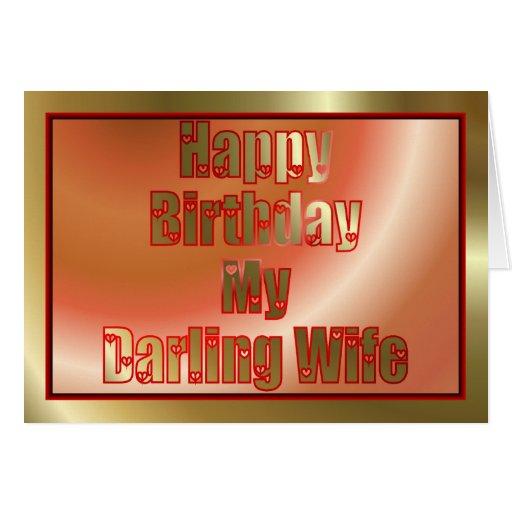 Feliz aniversario à esposa do marido cartões