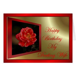 Feliz aniversario à esposa do marido cartão comemorativo