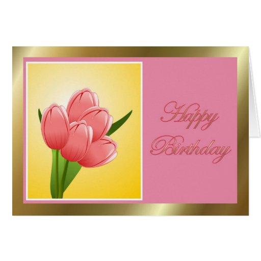 Feliz aniversario à esposa do marido com flores cartões