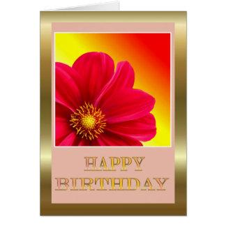 Feliz aniversario à esposa do marido com flores cartão comemorativo