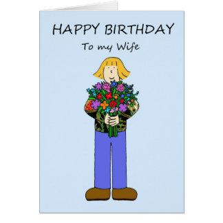 Feliz aniversario à esposa lésbica cartão comemorativo