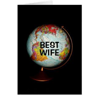 Feliz aniversario à melhor esposa na terra! cartão comemorativo
