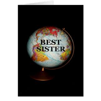 Feliz aniversario à melhor irmã na terra! cartão comemorativo