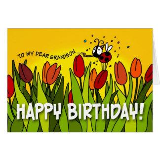 Feliz aniversario - a meu caro neto cartão comemorativo