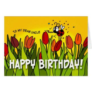 Feliz aniversario - a meu caro tio cartão comemorativo