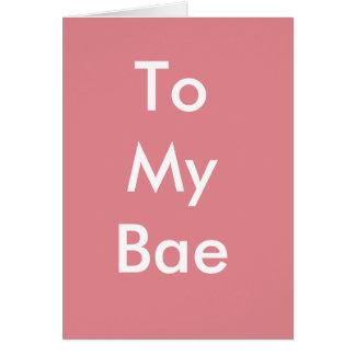 Feliz aniversario a meu cartão de Bae