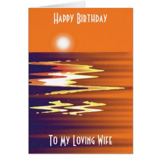 Feliz aniversario a meu cartão Loving da esposa