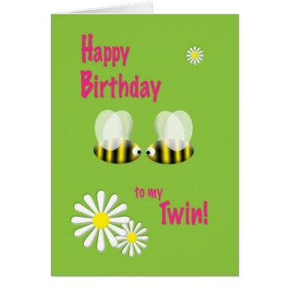 Feliz aniversario a meu gêmeo cartão comemorativo