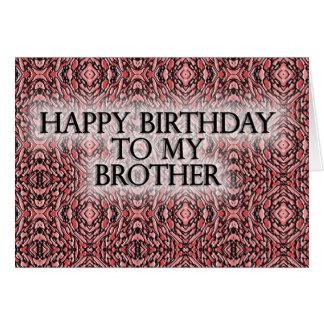 Feliz aniversario a meu irmão cartão comemorativo