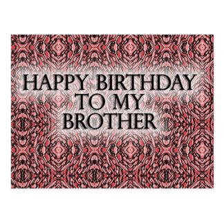 Feliz aniversario a meu irmão cartão postal