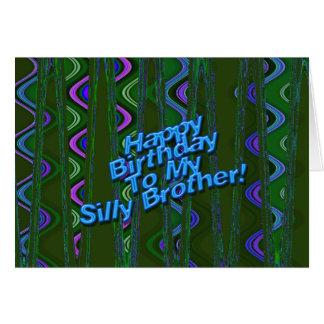 Feliz aniversario a meu irmão parvo cartao