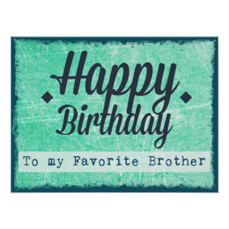 Feliz aniversario a meu poster favorito do irmão