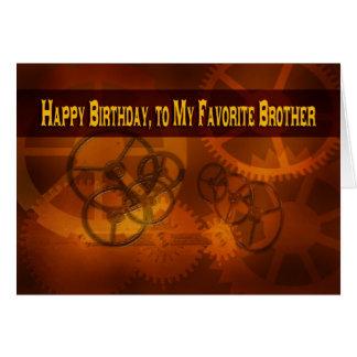 Feliz aniversario, a meu steampunk favorito do cartão comemorativo