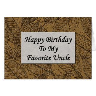 Feliz aniversario a meu tio favorito cartões