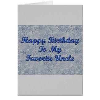 Feliz aniversario a meu tio favorito cartao