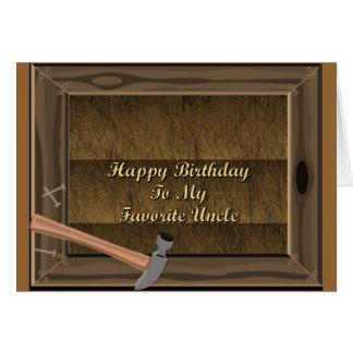 Feliz aniversario a meu tio favorito cartão comemorativo