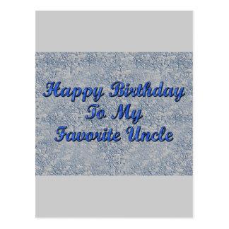 Feliz aniversario a meu tio favorito cartões postais