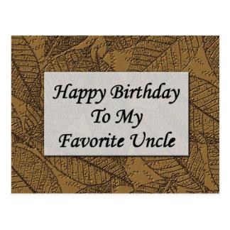 Feliz aniversario a meu tio favorito cartão postal