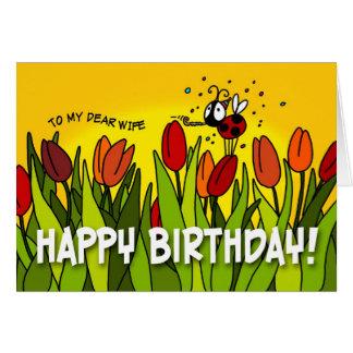 Feliz aniversario - a minha cara esposa cartão comemorativo
