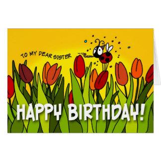 Feliz aniversario - a minha cara irmã cartão comemorativo