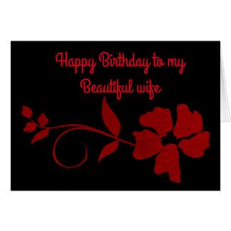 Feliz aniversario a minha esposa bonita cartão comemorativo