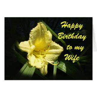 Feliz aniversario a minha esposa cartão comemorativo