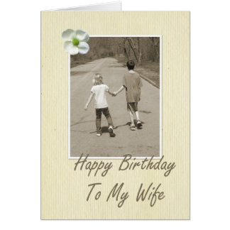 Feliz aniversario a minha esposa - menino e menina cartão
