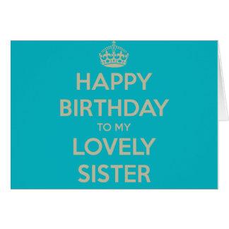 Feliz aniversario a minha irmã bonita cartão comemorativo