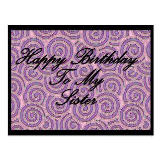 Feliz aniversario a minha irmã cartão postal