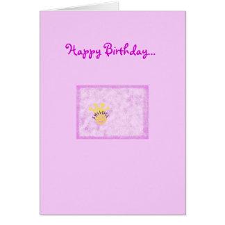 Feliz aniversario a minha princesa pequena cartao