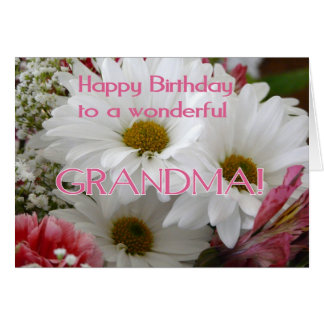 Feliz aniversario a uma avó maravilhosa! - cartão comemorativo