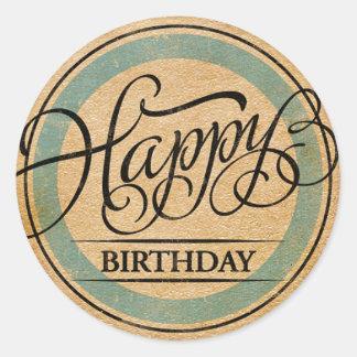 Feliz aniversario adesivo