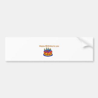 Feliz aniversário adesivo para carro