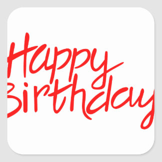 Feliz aniversario adesivo quadrado