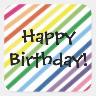 Feliz aniversario! adesivo quadrado
