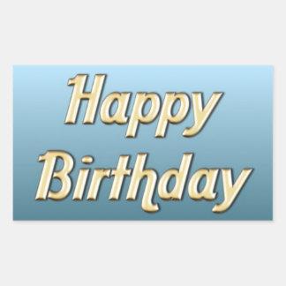 Feliz aniversario adesivo retangular