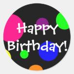 Feliz aniversario! adesivos redondos